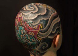 tatuaggio scalpo
