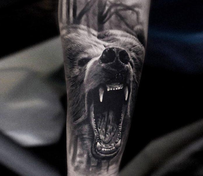 tatuaggio orso