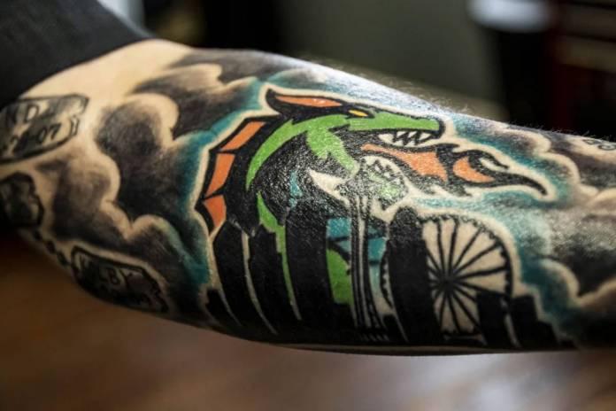 tatuaggio dragone