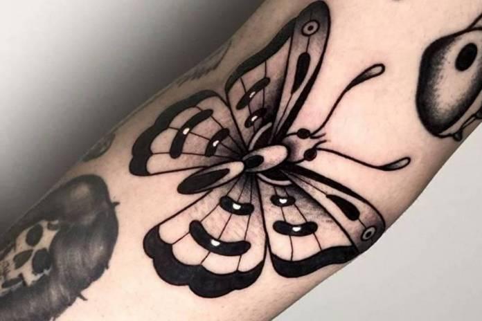 tatuaggio farfalla white label tattoo