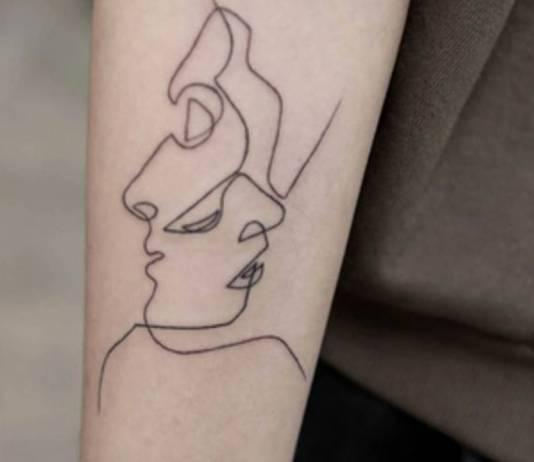 Tatuaggi realizzati con un'unica linea continua